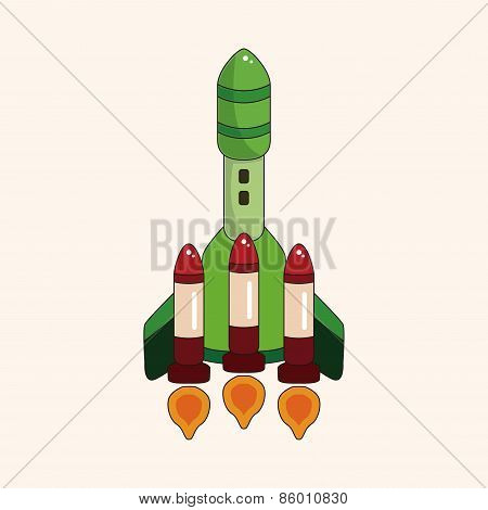 Spaceship Theme Elements Vector,eps