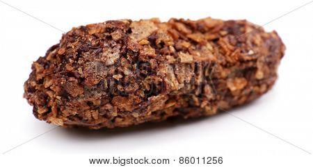 Homemade sweet chocolate isolated on white background
