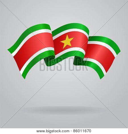 Surinamese waving Flag. Vector illustration