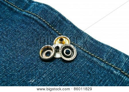 Denim With Two Metal Buttons