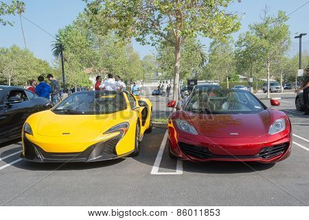 Mclaren P1 And Mclaren 12C On Display