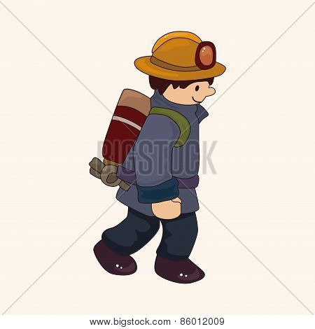 Fireman Theme Elements Vector,eps