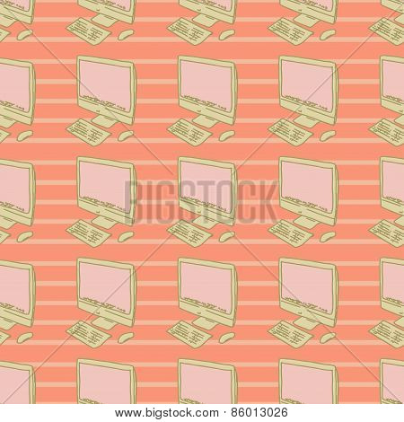 personal computer background, seamless pattern