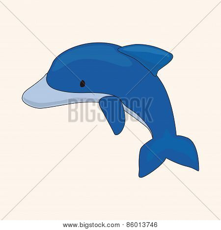 Dolphin Theme Elements Vector,eps