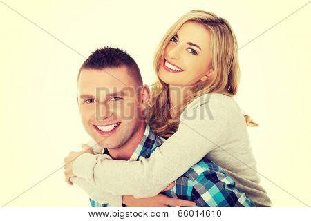 Portrait of happy playful couple