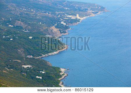 Coast Of The Black Sea In Autumn Day.  Crimea