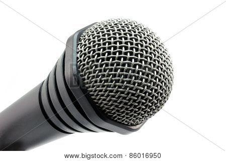 Black Microphone In The Corner