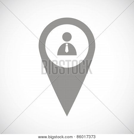 Man pointer black icon