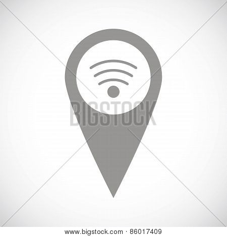 Wi-fi pointer black icon