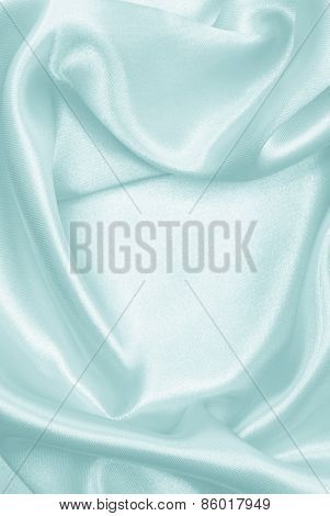 Smooth Elegant Blue Silk Or Satin As Background