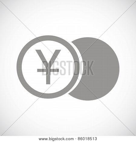 Yen coin black icon
