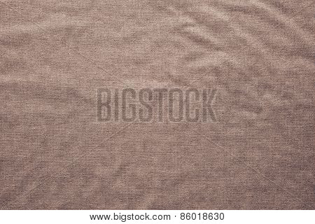 Rough Texture Fabric Of Brown Color
