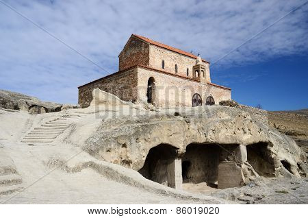 Orthodox Church In Ancient Cave Town Uplistsikhe,eastern Georgia,caucasus,euroasia