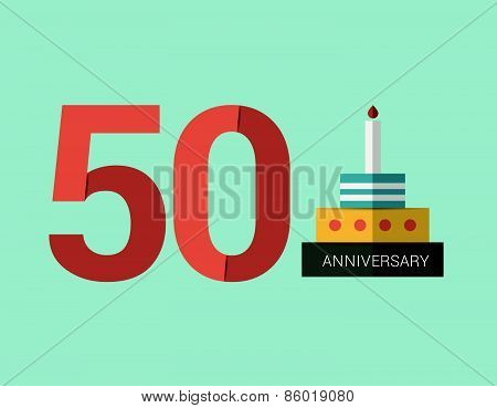 50 Years Anniversary Emblem.
