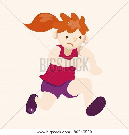 Track And Field Athletes Theme Elements Vector,eps