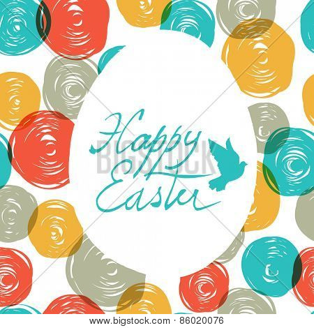 Easter Card with Colorful Pattern (balls doodles)