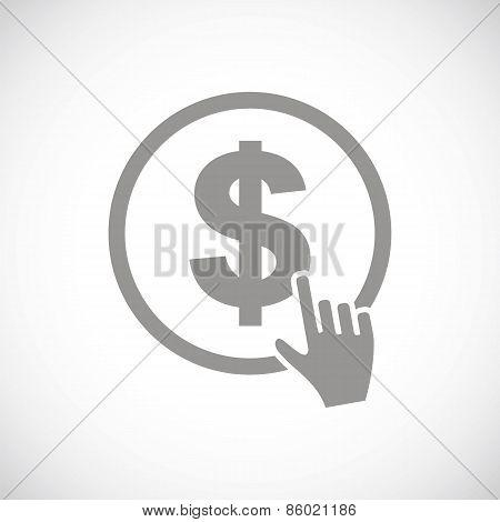 Dollar click black icon