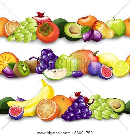 Fruits Borders Illustration