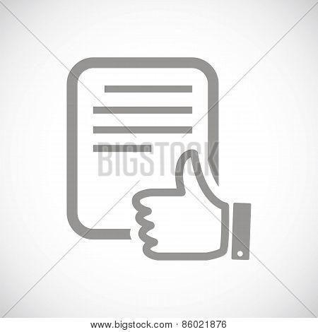 Document black icon