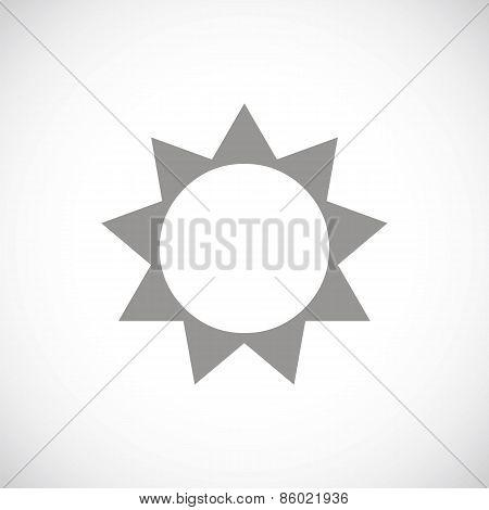 Sun black icon