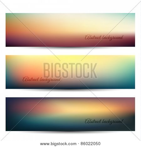 Abstract banners with natural background - eps10
