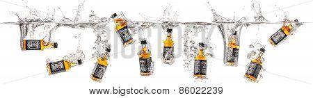 Dnepropetrovsk, Ukraine - January 06, 2015  Bottles Of Whiskey Jack Daniels