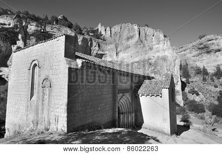 Landscape With Canyon And Bartolome Hermitage In Soria, Spain