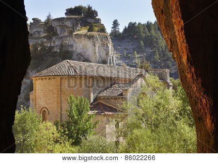 Landscape With Cave And Bartolome Hermitage In Soria, Spain