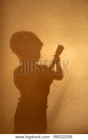 Silhouette Of Boy Playing Guitar