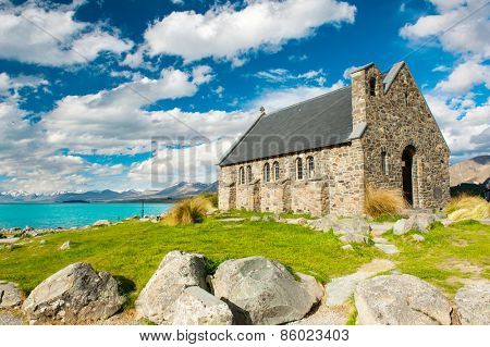 Old Church of the Good Shepherd at lake Tekapo, New Zealand