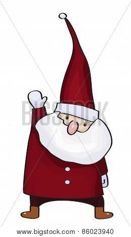 Vector Santa Claus cartoon isolated.