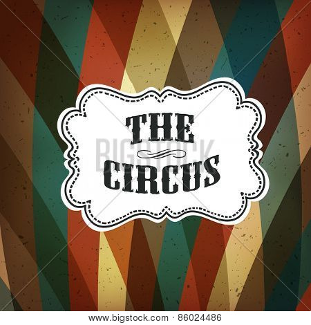 Circus Abstract Poster with Colored Rhombus