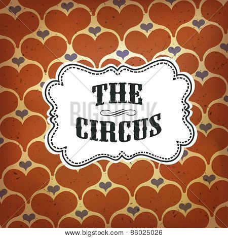 Circus Abstract Poster with Hearts