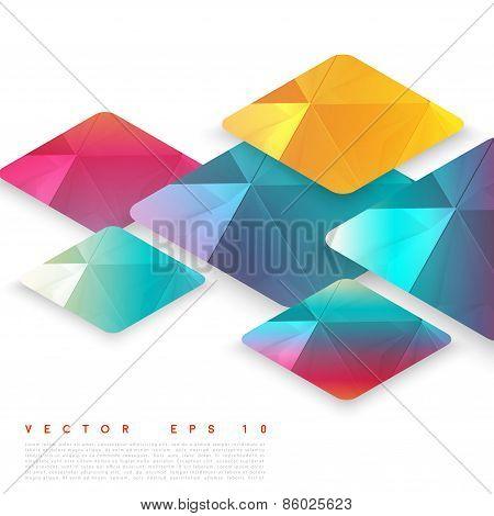 Vector design rhombus