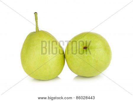 Chinese Fragrant Pear Isolated On White Background