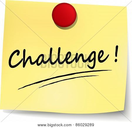 Challenge Yellow Note
