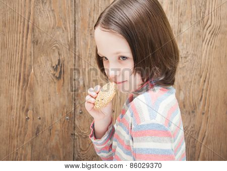 Little Girl With Cookies