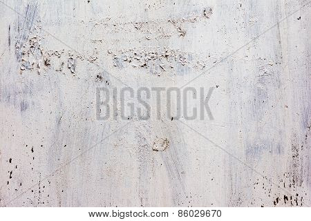 Creative Background C Cracks And Scratches Carelessly Painted With White Paint. Textured Background