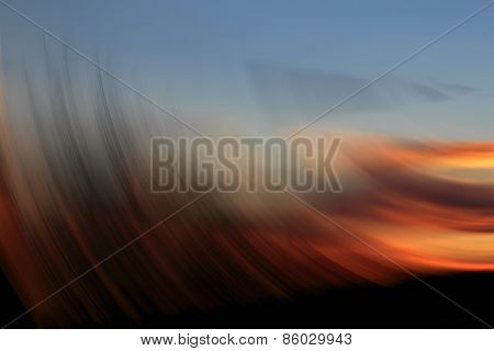 Abstract Sunset, Abstract Of Golden Spin For Background Used