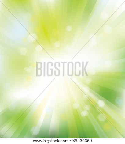 Vector green shine background.