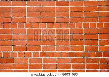 Background. A Wall From A Red Brick