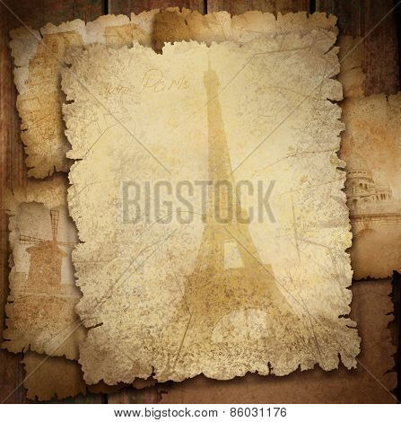 Background for Paris  card.
