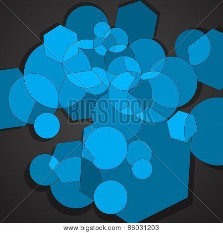 Blue elements abstract background, vector eps10 illustration