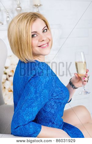 Beautiful luxurious woman