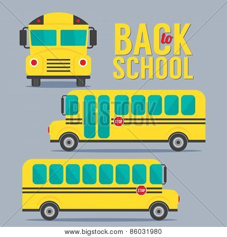 Yellow Bus School Back To School Concept.