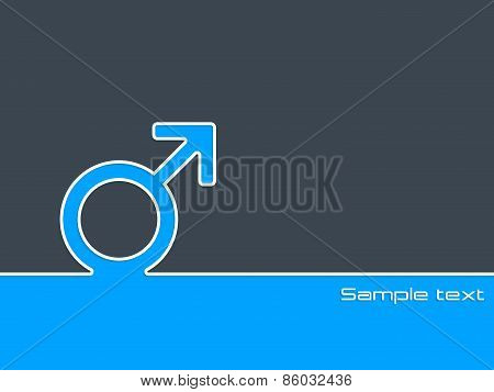 Male Sex Symbol Background