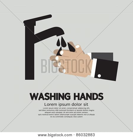 Washing Hands With Faucet.