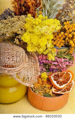 Medicinal Herbs With Honey