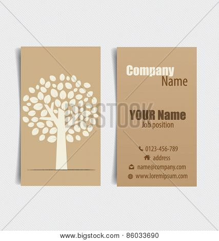 Nature banner, Modern business card template, Eco organic labels and cards. Vector illustration.