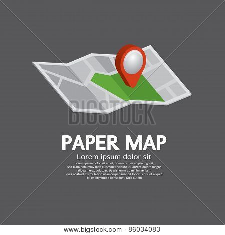 Pin On Paper Map.